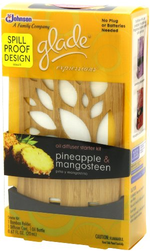 Glade Expressions Oil Diffuser Starter, Pineapple and Mangosteen, 0.67 Ounce