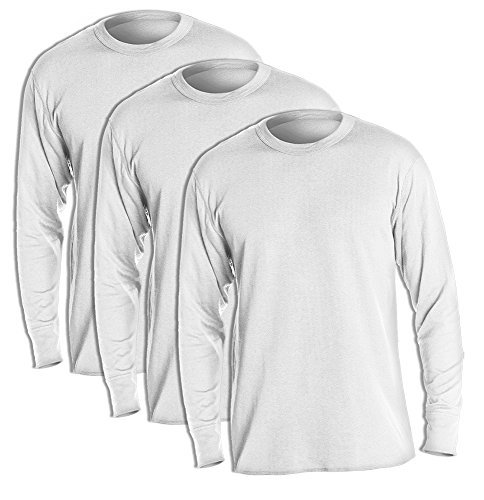 Duofold KMW1 Men's Midweight Thermal Crew Large Winter White (Pack of 3) (Duofold Cotton Jersey)