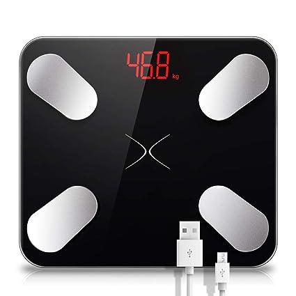 Carga USB Báscula Digital para baño Inteligente Escala electrónica Baño Conexión Monitoreo de Datos Escala de
