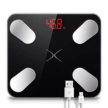 Carga USB Báscula Digital para baño Inteligente Escala electrónica Baño Conexión Monitoreo de Datos Escala de Peso de precisión 330 lbs: Amazon.es: Hogar