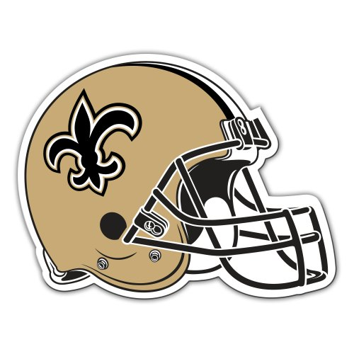 Fremont Die NFL New Orleans Saints 12-Inch Vinyl Helmet Magnet - Hat Refrigerator Magnet