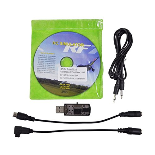 Flight Simulator – SODIAL(R) USB Flight Simulator Wire Dongle For RC Helicopter Aeroplane RealFlight 22 in 1