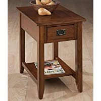 Jofran Chairside Table in Mission Oak Finish