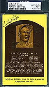 SATCHEL PAIGE SIGNED GOLD HOF PLAQUE PSA/DNA AUTHENTIC AUTOGRAPH 11