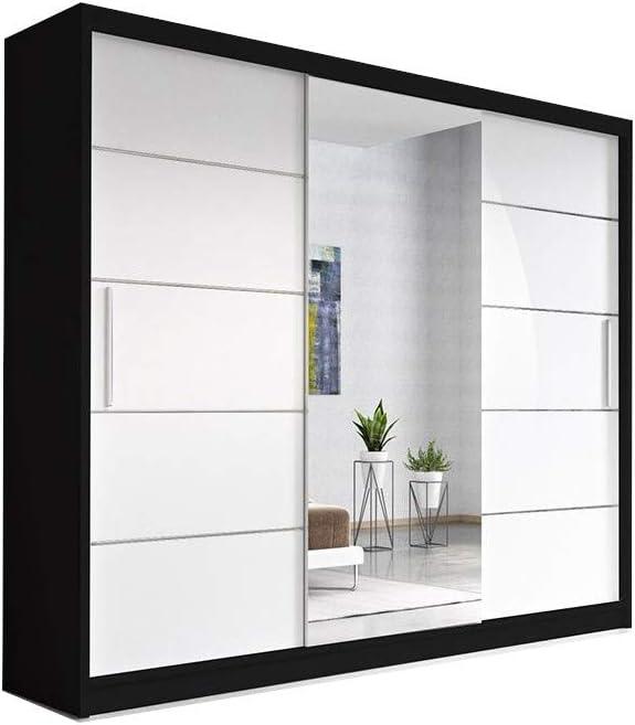 E-MEUBLES - Armario con 3 Puertas correderas, 250 x 218 x 61 cm: Amazon.es: Hogar