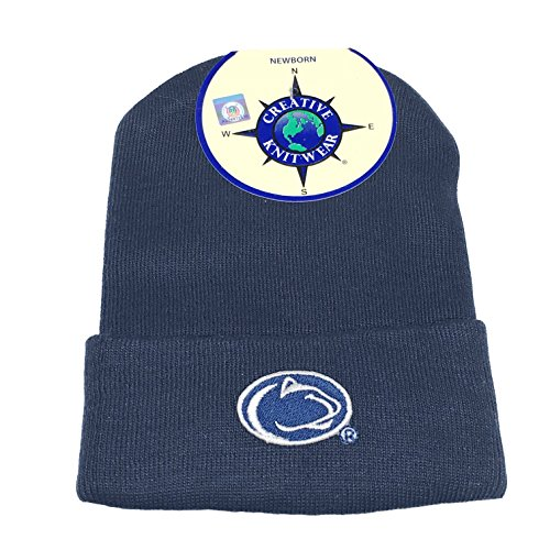 Penn State Nittany Lions NCAA College Newborn Baby Knit Hat Cap (Newborn, Colored)