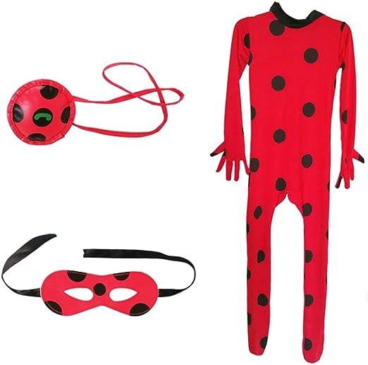 Baipin 3Pcs Disfraz de Ladybug, un Antifaz máscara y bolsita Chica ...