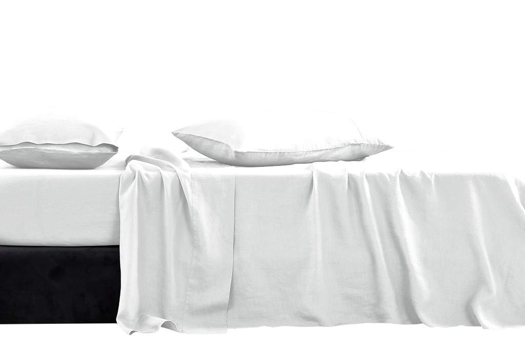 Luxury Hotel Collection Double Brushed Microfiber - 1800 Series - Olympic Queen Size Sheet Set With 15 Inch Deep Pocket (Solid White) - 4 Piece Set - Wrinkle Free, Stain Resistant Bed Sheet Set