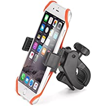 Bicycle Mount iKross Universal Bike Cycling Rack Handlebar Holder Cradle with 360 Degrees Rotation, Rubber Strap For iPhone 8, X, 7 Plus 7 6S 6 SE 5, Galaxy S8 S7, Note 8, 5 LG G6 G5 and More