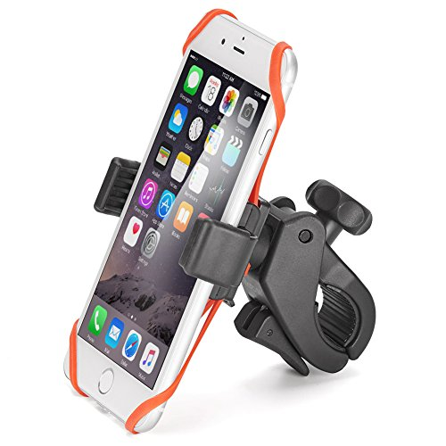 iKross Universal Bike/Motorcycle Phone Mount 360 Degree Rotation Handlebar Mount Phone Holder for iPhone X 8 7 Plus, Galaxy S9 S8 S7