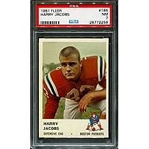 1961 FLEER #186 HARRY JACOBS PATRIOTS PSA 7 F2550383-258