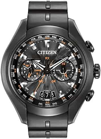 4e514a1458e Citizen Watch Satellite Wave Air Men s Quartz Watch with Black Dial Analogue  Display and Black PU