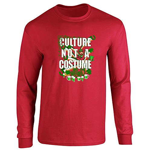 Culture Not A Costume St Patrick's Day Red 3XL Long Sleeve (Culture Not A Costume Meme)