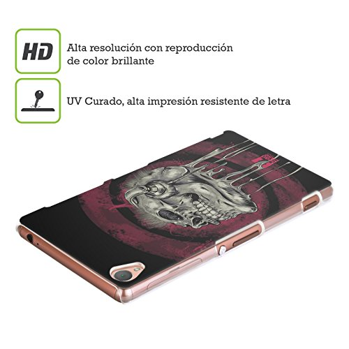 Head Case Designs Music Head Skull of Rock Protective Snap-on Hard Back Case Cover for Sony Xperia Z1 C6902