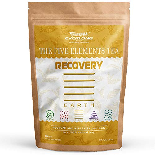 Recovery Infusion Base on Earth Element-Promotes Muscle Recovery After Workout, Speed Up Healing, Optimize Your Recuperation by Replenish Restores Natural Herbal Nutrients-Everlong The 5 Elements Tea Earths Promise Peppermint Tea
