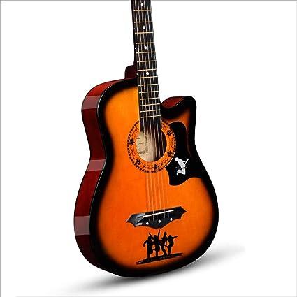 Aigliady Guitarra acústica de 38 pulgadas Mejor opción Banda Modo ...