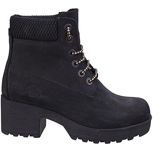 Pine Womens Darkwood Black Leather Boots Ladies Hiking zatqtwC