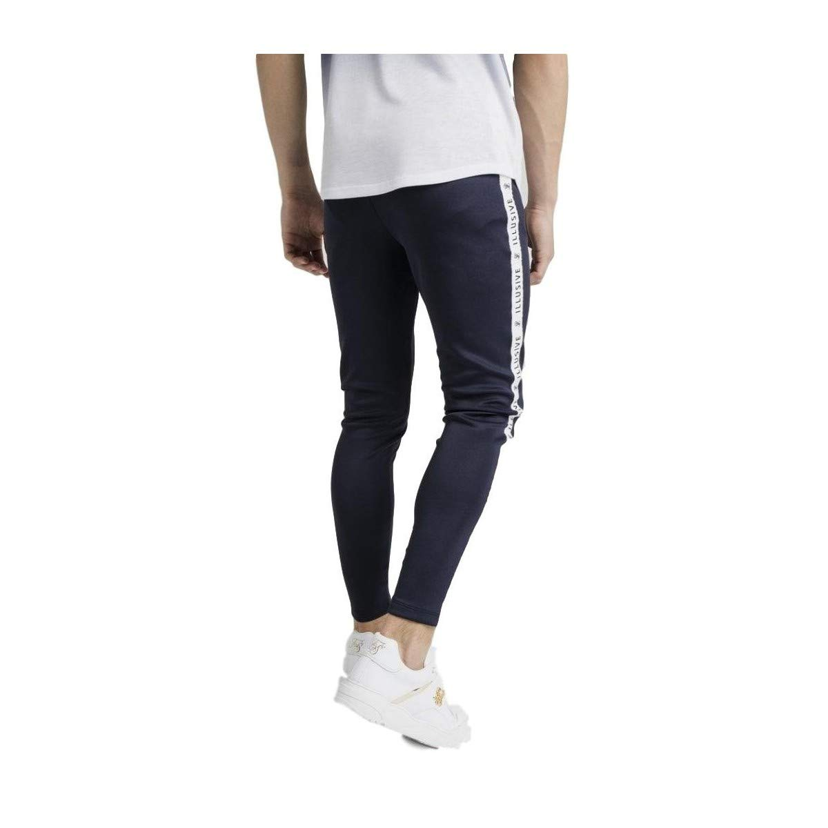 Illusive London Pantalon Taped Azul Marino: Amazon.es: Ropa y ...