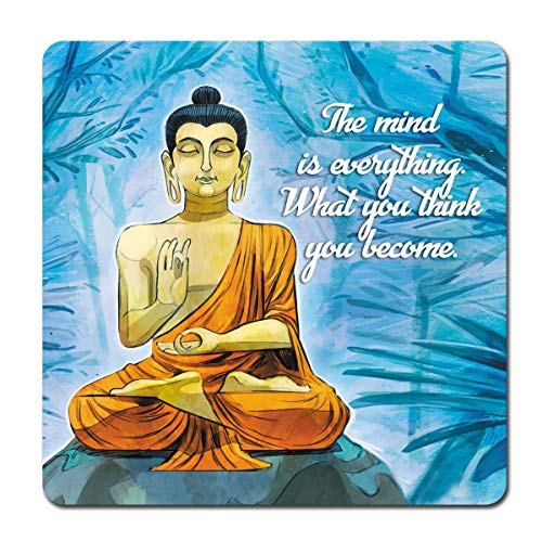 Budha Refrigerator Magnet - With Peaceful Meditating Spiritual Quote for Kitchen Fridge