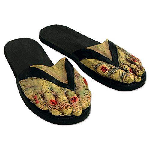 Beistle 00040 Zombie Feet Slippers -