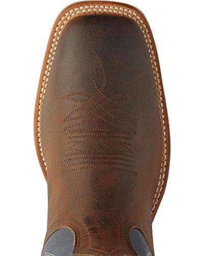 Boulet Mens Stockman Cowboy Boot Bred Fyrkantig Tå - 9285 Brun