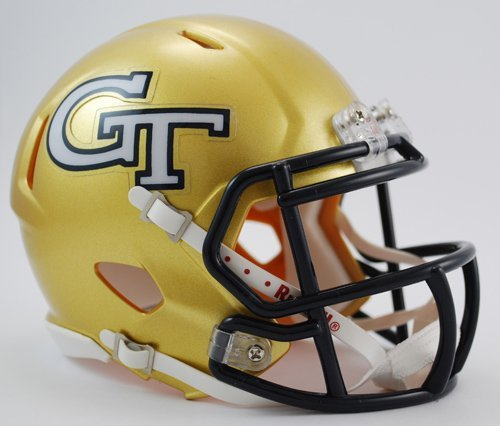 NCAA Georgia Tech Yellow Jackets Speed Mini (Ncaa Football Helmet Decals)