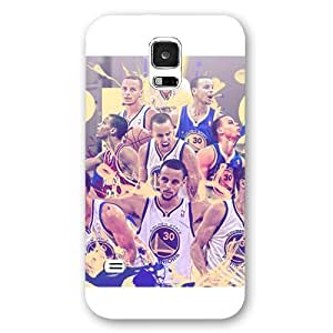 UniqueBox - Customized White Frosted Samsung Galaxy S5 Case, NBA Golden State Warriors Superstar Stephen Curry Samsung Galaxy S5 Case