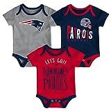 NFL by Outerstuff NFL New England Patriots Newborn & Infant Little Tailgater Short Sleeve Bodysuit Set Dark Navy, 24 Months