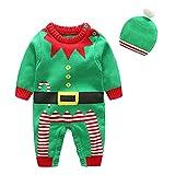 Kids Toddler Little Girls Shoulder Button Strap Love Heart Deer Romper Knit Sweater Jumpsuit Onesizes0-6 Months