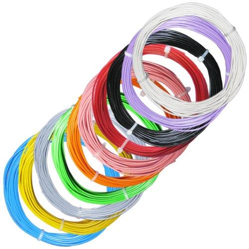 100m Litze flexibel - SET 10 Farben - 2mm/0,5mm²: Amazon.de: Beleuchtung