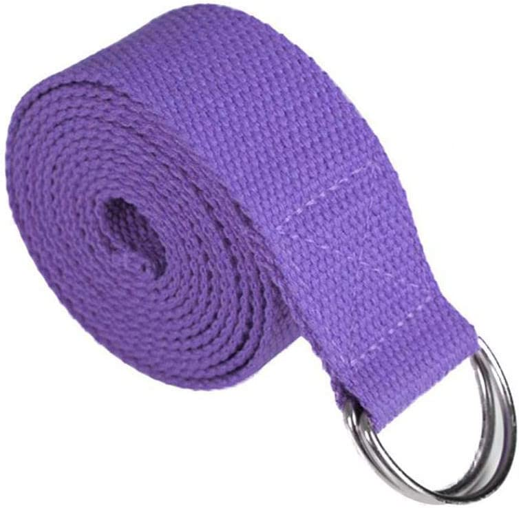 Acecoree D Ring in Cotone Regolabile Yoga Stretch Strap Training Belt Leg Fitness Cinghie