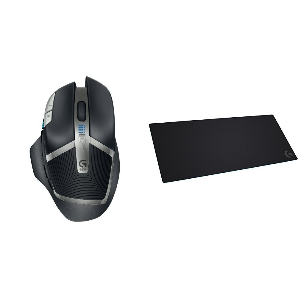 G602 Lag-Free Wireless Gaming Mouse & Logitech G840 XL Cloth Gaming Mouse Pad bundle