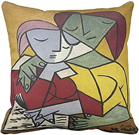 Pillow pillow Cojín Personalizado 40 x 40 Pablo Picasso Artista Arte España Dos Personajes - 3 - Sofá Decoración Idea Regalo: Amazon.es: Hogar
