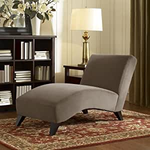 Contemporary taupe chaise this modern chaise - Amazon bedroom chairs and stools ...