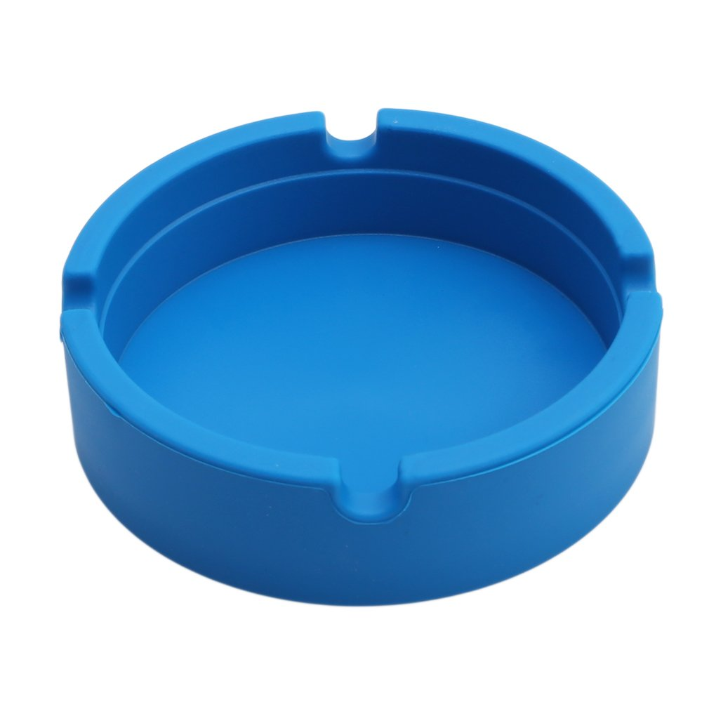 Myhouse Silicone Ashtray Heat Resistant Cigar Holder Eco-Friendly Ashtray (Blue)