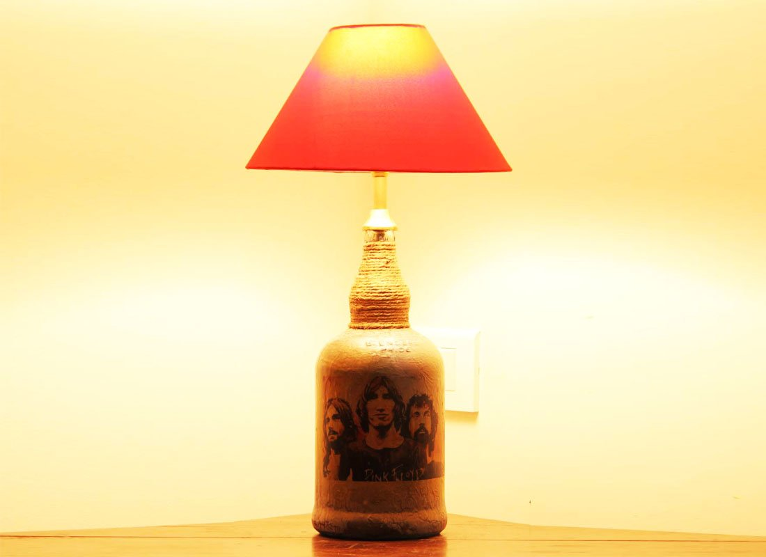 CraftedIndia Beautifully Textured Table Lamp For Home Deocr
