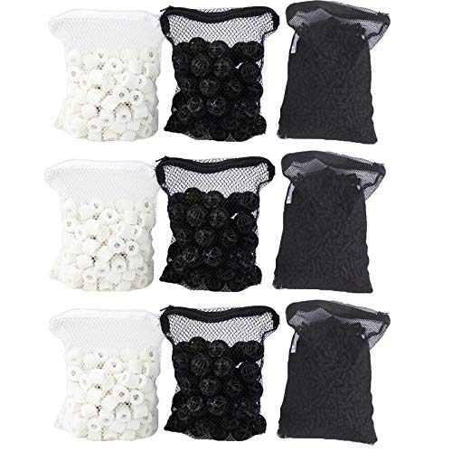 Aquaneat Aquarium Canister Filter Media Set Ceramic Ring Bio Ball Activated Carbon for SUNSUN Pond Filter Power Filter Top Filter Triple Pack