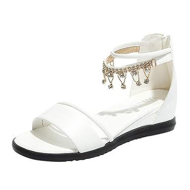 Sandalia para Mujer, ❤ Absolute Moda para Mujer Peep Toe Cuñas Tacón Casual Mocasines Zapatos Sandalia Zapatos: Amazon.es: Ropa y accesorios