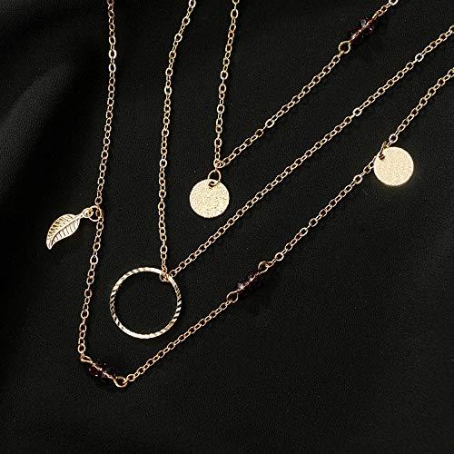 Fansi 1/x Collier pour Femme Faite /à la Main Tassel Collier Pendentif Multicouche Pendentif Cercle Collier cha/îne Mode Bijoux de No/ël Amour Cadeaux