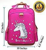 """Girls Backpack Pink Unicorn 15""""  Waterproof School-Kindergarten Bag,Toddler-Teen"""