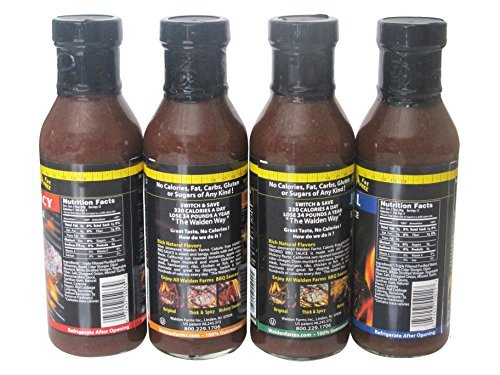 Calorie Free Barbecue Sauce - 4 FLAVORS 12 fl oz Bottles