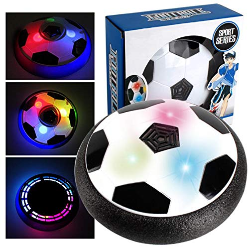 Air Power Soccer Disc Football Indoor Outdoor Hover LED Music Toys For Kids Gift - Gadget Toys Novelties-1x Grille