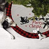 DXZMNCA 48inch Xmas Tree Skirt, Holiday Tree Ornaments Christmas Tree Skirt for Christmas Day