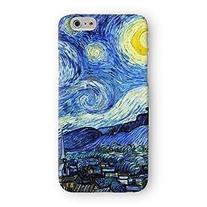 Starry Night 2by Van Gogh completo de alta calidad 3d impresa Caso, snap-on Protector duro back cover para Apple® iPhone 6por pintura obras maestras