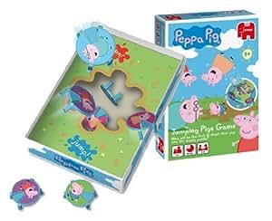 Disney Jumping Pigs - Juego de mesa de Peppa Pig y sus amigos saltadores