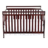 Dream On Me Liberty 5-in-1 Convertible Crib, Cherry