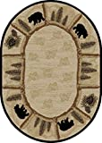 Dean Toccoa Bear Lodge Cabin Bear Area Rug Size: 5'3″ x 7'3″ Oval