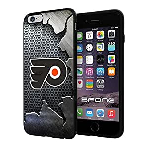 """Philadelphia Flyers Crack Iron #2024 iPhone 6 Plus (5.5"""") I6+ Case Protection Scratch Proof Soft Case Cover Protector"""