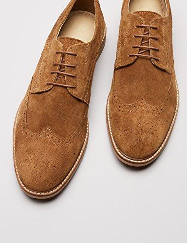 Hombre de Find Tan Zapatos Marrón Brogue Cordones qUwU5Ir