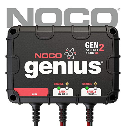 (NOCO Genius GENM2 8 Amp 2-Bank On-Board Battery Charger)